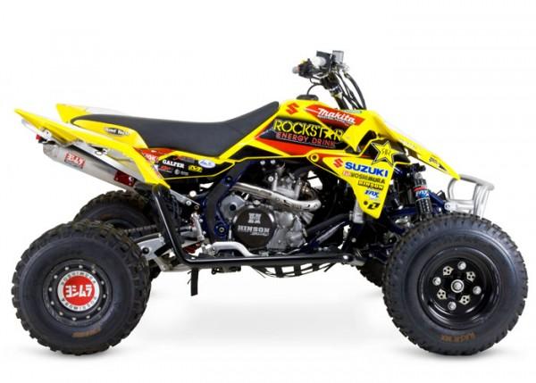 Auspuff Komplettanlage Yoshimura USA RS5 Alu/Stahl Suzuki LTR 450 06-10