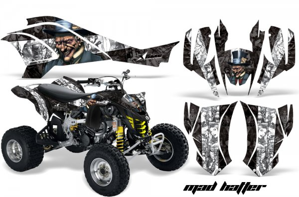 Grafik Kit Dekor MadHatter Can Am DS450 Quad ATV Graphic Kit