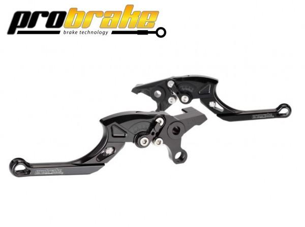 ProBrake TECTOR Einstellbare Kupplungs + Bremshebel Farbe schwarz für Quad Yamaha YFM 700R