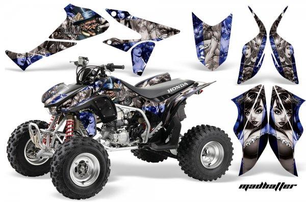 Grafik Kit Dekor MadHatter Honda TRX 450R 04-11 Quad ATV Graphic Kit