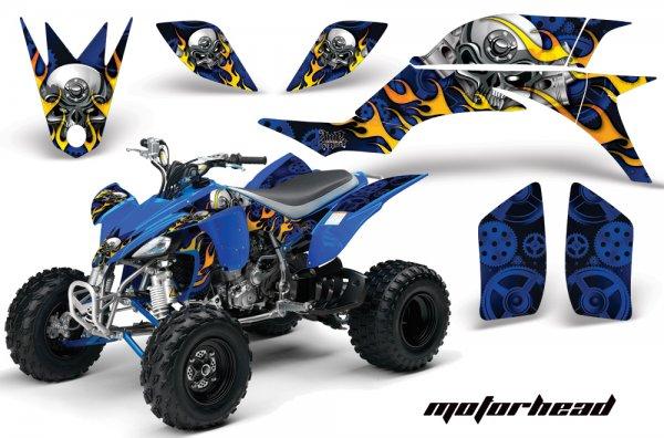 Grafik Kit Dekor Motorhead Yamaha YFZ 450 04-08 Quad ATV Graphic Kit