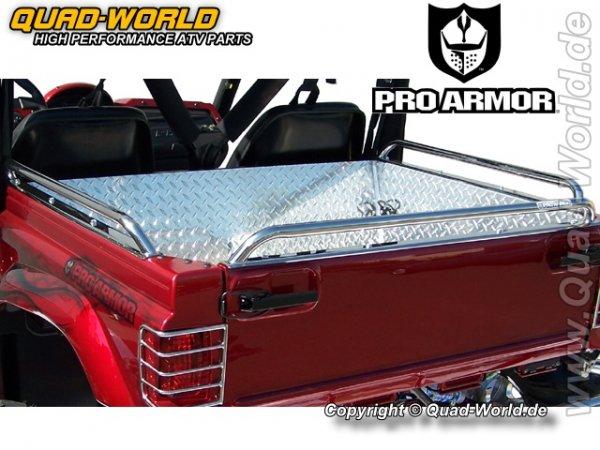 Pro Armor TAIL GATE GRAB RAIL POLISHED STAINLESS ST für Yamaha Rhino für Yamaha Rhino