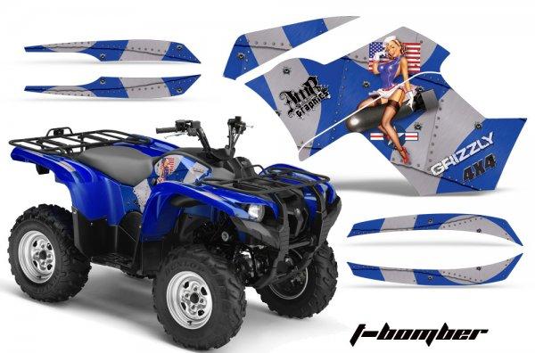 Grafik Kit Dekor T-Bomber Yamaha 700/550 Grizzly Quad ATV Graphic Kit