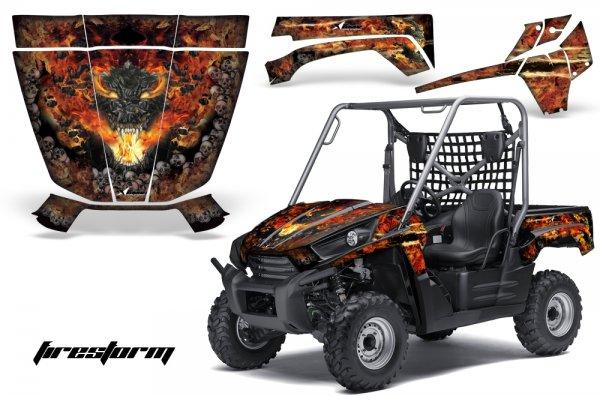 Grafik Kit Dekor Firestorm Kawasaki Teryx 750 10-11 UTV Graphic Kit