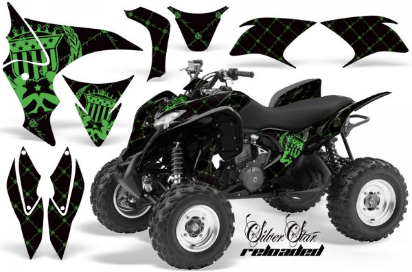 Grafik Kit Dekor Silver Star Reloaded Honda TRX 700XX Quad ATV Graphic Kit