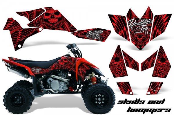 Grafik Kit Dekor Skulls & Hammers Suzuki LTR 450 Quad ATV Graphic Kit