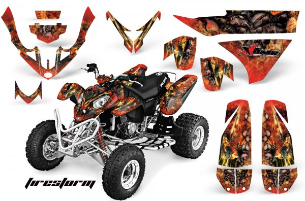Grafik Kit Dekor Firestorm Polaris Predator 500 Quad ATV Graphic Kit