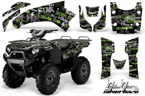 Grafik Kit Dekor Silver Star Silver Haze Kawasaki Brute Force 750 Quad ATV Graphic Kit
