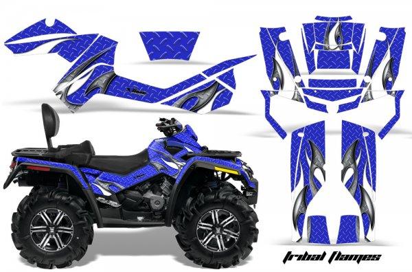 Grafik Kit Dekor Tribal Flame Can Am Outlander MAX 400/500/650/800 Quad ATV Graphic Kit