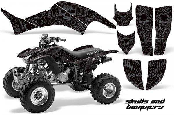 Grafik Kit Dekor Skulls & Hammers Honda TRX 400EX 99-07 Quad ATV Graphic Kit