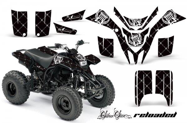 Grafik Kit Dekor Silver Star Reloaded Yamaha YFS 200 Blaster Quad ATV Graphic Kit