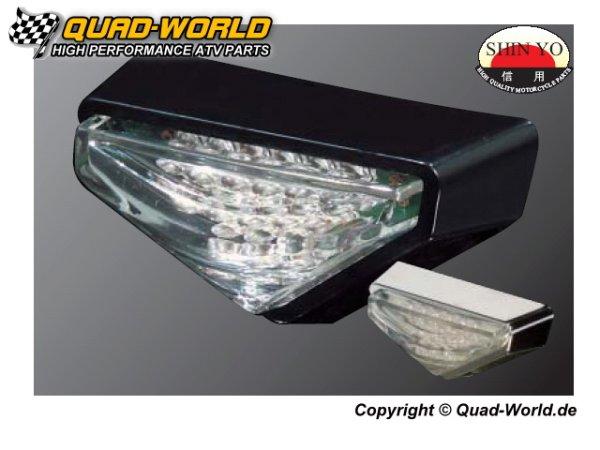 LED Mini Rücklicht MODENA verchromtes Gehäuse