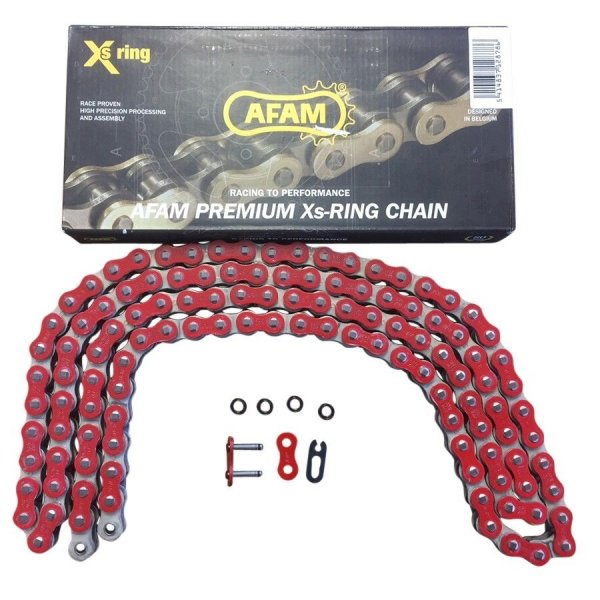 AFAM Quad Kette X-Ring Typ A520XRR-R 520 / 120 Glieder Farbe Rot für Fahrzeuge über 500ccm