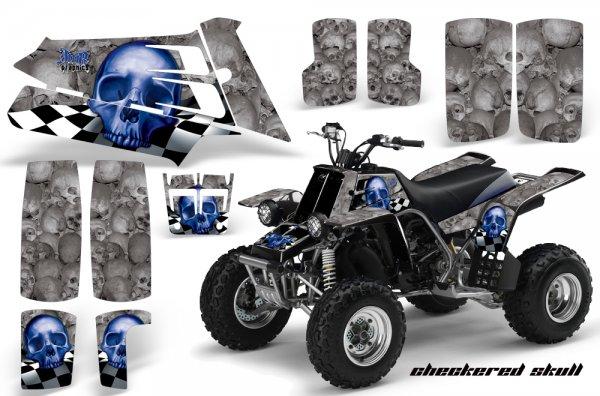 Grafik Kit Dekor Checkered Skull Yamaha 350 Banshee Quad ATV Graphic Kit