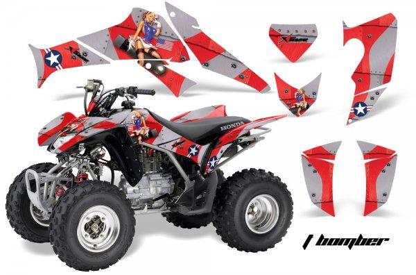 Grafik Kit Dekor T-Bomber Honda TRX 250EX / 250R Quad ATV Graphic Kit
