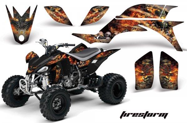 Grafik Kit Dekor Firestorm Yamaha YFZ 450 04-08 Quad ATV Graphic Kit