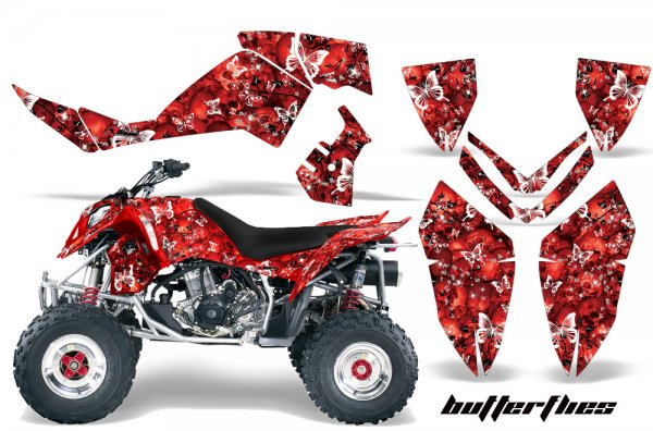 Grafik Kit Dekor Butterfly Polaris Outlaw 450/500/525 06-08 Quad ATV Graphic Kit
