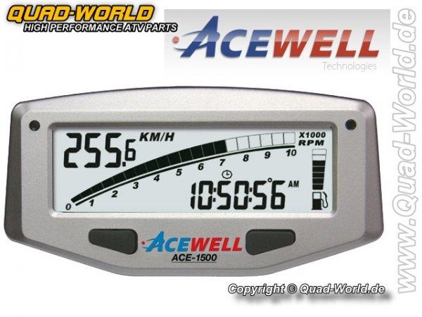 Acewell Digital Tacho Silber ACE-1500