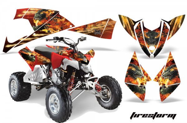 Grafik Kit Dekor Firestorm Polaris Outlaw 450/500/525 09-11 Quad ATV Graphic Kit