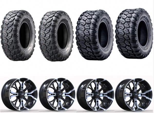 Kompletträder 12 Zoll CF-Moto A2 Felgen Silber schwarz Ceros u. Teilegutachten