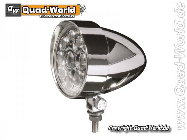 LED Fernscheinwerfer INDIANAPOLIS Chrom mit 9 Power LEDs E-geprüft