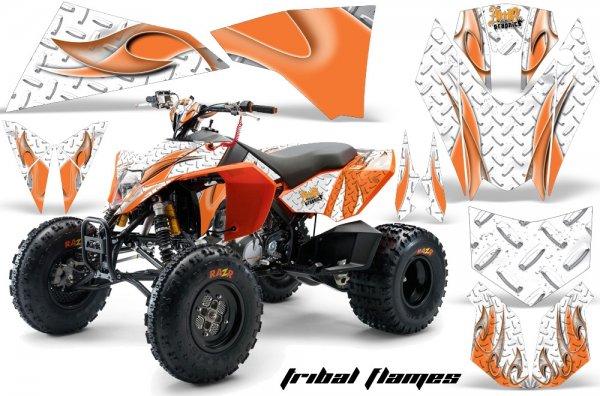 Grafik Kit Dekor Tribal Flame KTM 450/505/525 Quad ATV Graphic Kit