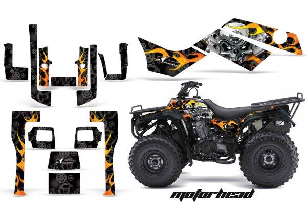 Grafik Kit Dekor Motorhead Kawasaki Bayou 250/300 Quad ATV Graphic Kit
