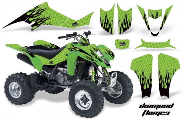 Grafik Kit Dekor Diamond Flames Kawasaki KFX 400 Quad ATV Graphic Kit