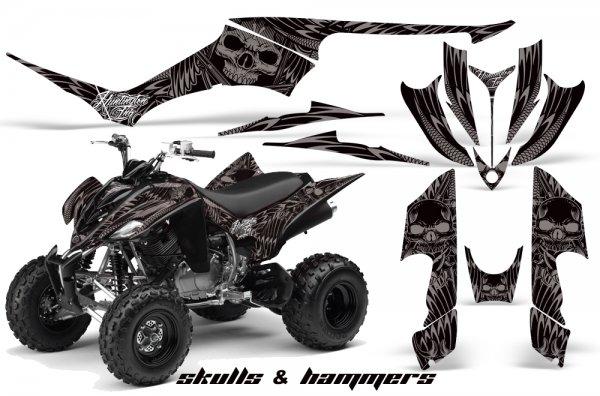 Grafik Kit Dekor Skulls & Hammers Yamaha YFM 350 R Quad ATV Graphic Kit
