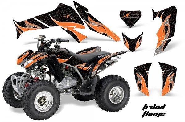 Grafik Kit Dekor Tribal Flame Honda TRX 250EX / 250R Quad ATV Graphic Kit