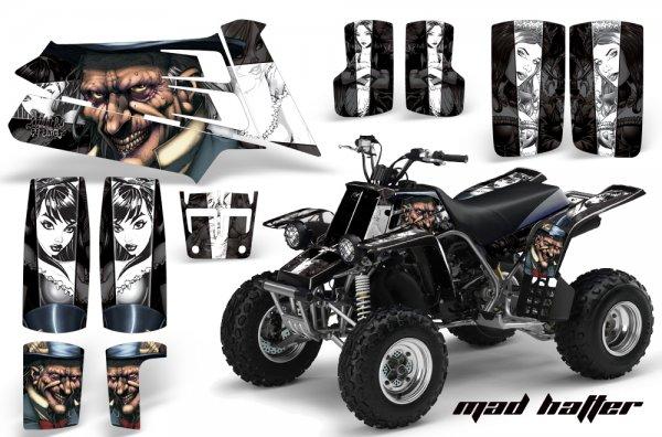 Grafik Kit Dekor Mad Hatter Yamaha 350 Banshee Quad ATV Graphic Kit