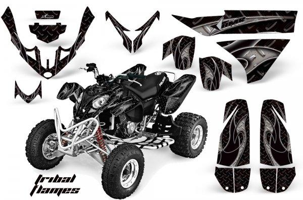 Grafik Kit Dekor Tribal Flame Polaris Predator 500 Quad ATV Graphic Kit