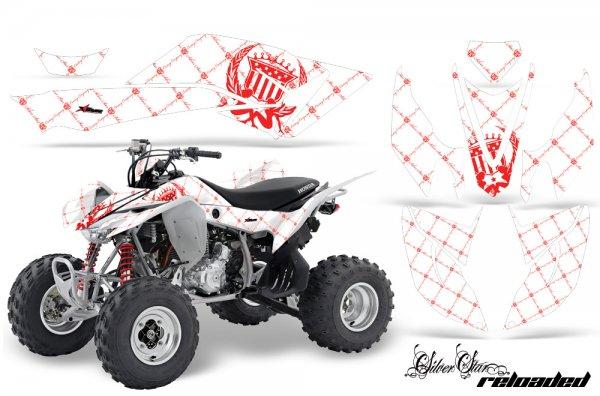 Grafik Kit Dekor Silver Star Reloaded Honda TRX 400EX 08-11 Quad ATV Graphic Kit