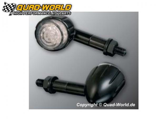 LED-Blinker Alu Schwarz Paar 20 mm + 20 mm Armverlängerung, E-geprüf