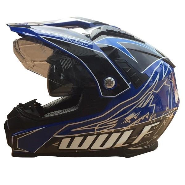 Prima-X Cross Helm Blau Motorrad Quad ATV Bike Enduro MX BMX Supermoto