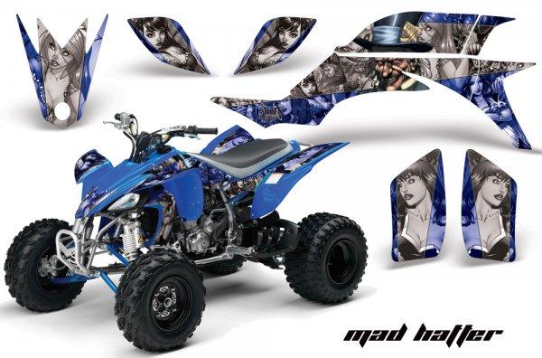 Grafik Kit Dekor Madhatter Yamaha YFZ 450 04-08 Quad ATV Graphic Kit