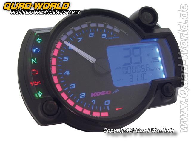 Koso RX2N Digitales Multifunktions-Cockpit, RX2N, E-gepr.