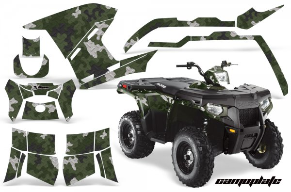 Grafik Kit Dekor Camo Plate Polaris Sportsman 800/500 Quad ATV Graphic Kit