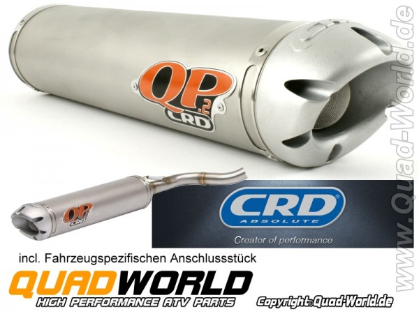 CRD QP2 Auspuff Endtopf ABE Can AM Renegade 500 07-12