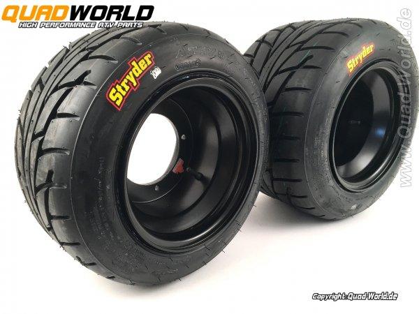 Kompletträdersatz Yamaha YFM 700R Silver Dream black + CST Reifen mit Teilegutachten