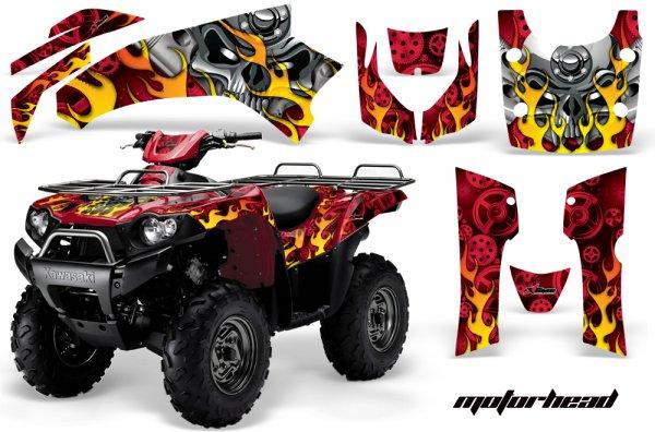 Grafik Kit Dekor MotorHead Kawasaki Brute Force 750 Quad ATV Graphic Kit