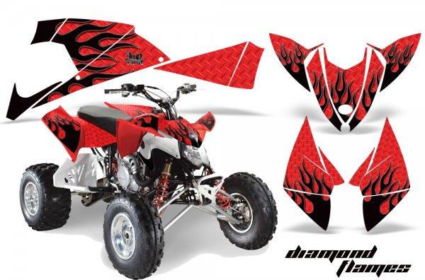 Grafik Kit Dekor Diamond Flame Polaris Outlaw 450/500/525 09-11 Quad ATV Graphic Kit