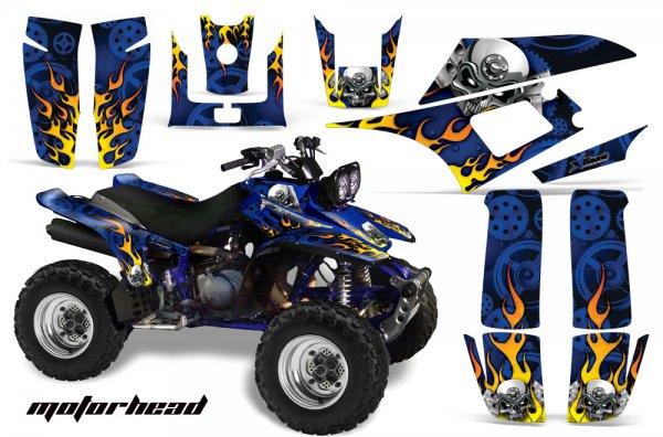 Grafik Kit Dekor Motorhead Yamaha YFM 350 Warrior Quad ATV Graphic Kit