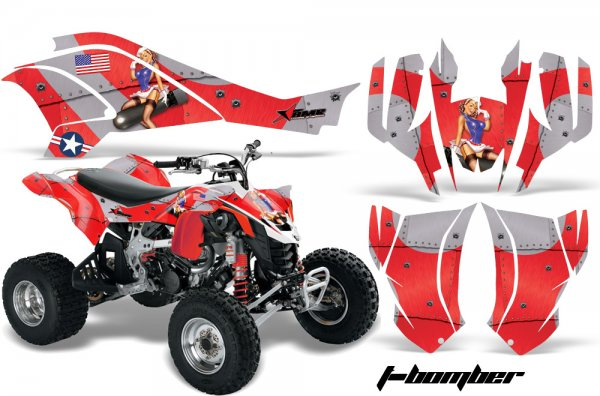 Grafik Kit Dekor T-Bomber Can Am DS450 Quad ATV Graphic Kit
