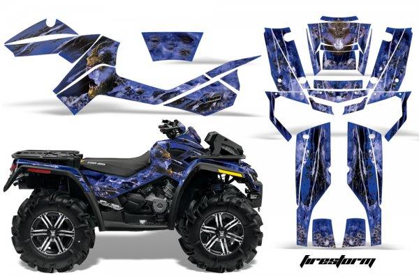 Grafik Kit Dekor Firestorm Can Am Outlander 800 XMR Quad ATV Graphic Kit
