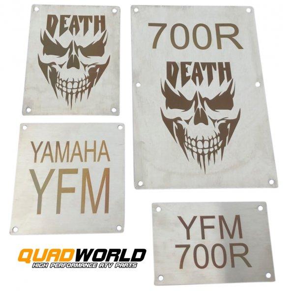 Quad Warnschilder Typ DEATH Yamaha YFM 700R 13--