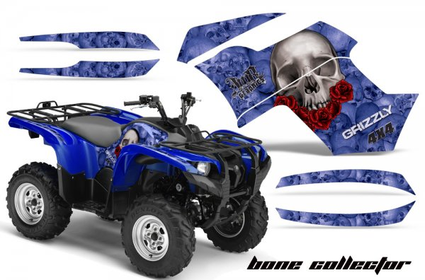 Grafik Kit Dekor Bone Collector Yamaha 700/550 Grizzly Quad ATV Graphic Kit