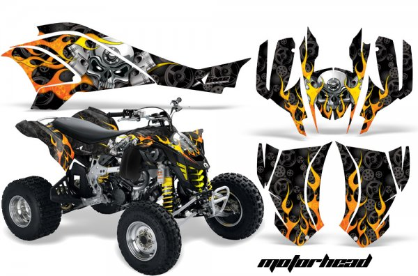 Grafik Kit Dekor Motorhead Can Am DS450 Quad ATV Graphic Kit