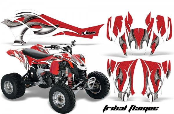 Grafik Kit Dekor Tribal Flame Can Am DS450 Quad ATV Graphic Kit