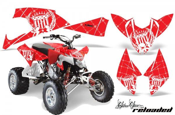Grafik Kit Dekor Silver Star Reloaded Polaris Outlaw 450/500/525 09-11 Quad ATV Graphic Kit